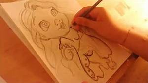 How To Draw Disney's Tangled: Baby Rapunzel - YouTube