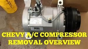 Chevy Suburban  Silverado A  C Compressor Removal Overview