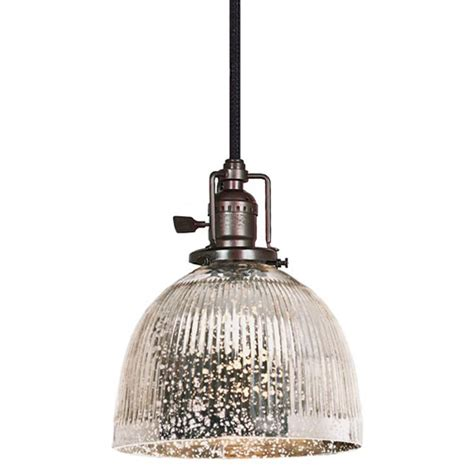 ribbed dome mercury glass shade pendant light available in