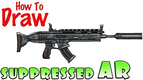 Easy Drawings Guns Fortnite