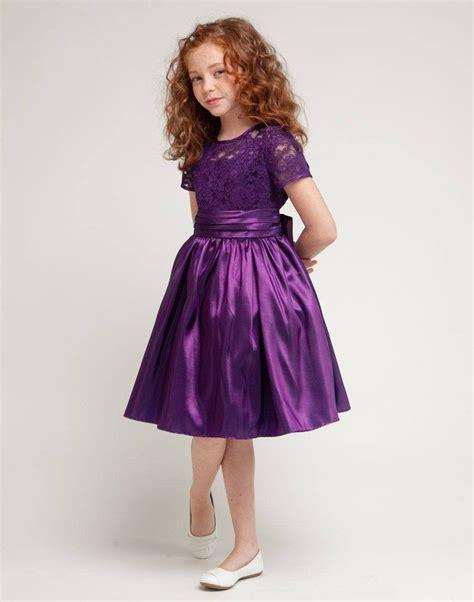 Flower Girl Dress Lace and Glistening Taffeta Knee length ...