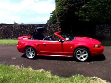 best ford mustang v6 2002 mustang 3 8 v6 convertible top in motion