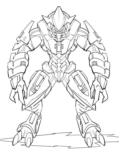 halo coloring pages  printable halo coloring pages