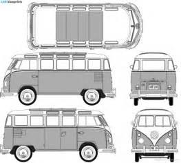 volkswagen bus drawing car blueprints volkswagen t1 samba blueprints vector