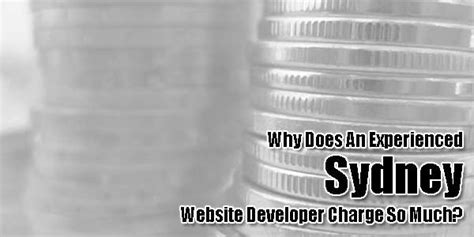 Why Does An Experienced Sydney Website Developer Charge So