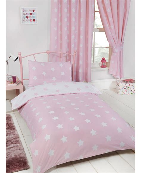 Pink And White Duvet Set pink and white single duvet cover and pillowcase set