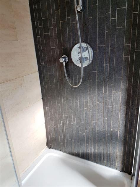 renovating  mouldy porcelain tiled shower cubicle