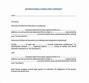 consultant contract template 10 download free documents With it consultant contract template