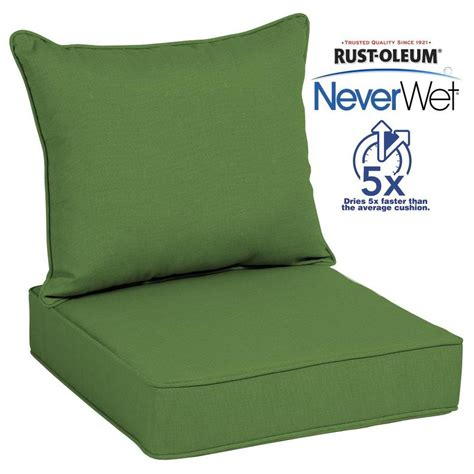 allen roth neverwet  piece green deep seat patio chair
