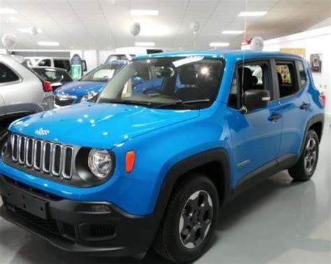 used jeep renegade used 2015 15 reg sierra blue jeep renegade renegade 1 6