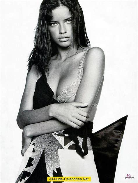 Adriana Lima Braless Black White Images