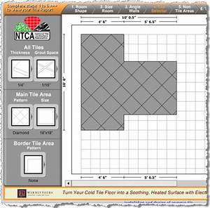 Bathroom tiles online tile estimator tool makes tiling easy for Floor tile planner online