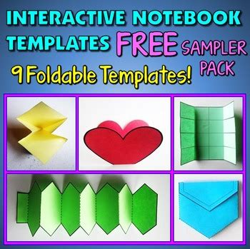 interactive notebook templates interactive notebook templates free sler pack 9 templates