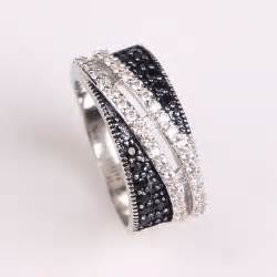 luxury wedding rings 2017 black zirconia wedding ring platinum plated jewelry fashion luxury engagement