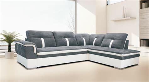 canapé relax convertible canape d 39 angle à droite convertible galaxia blanc gris