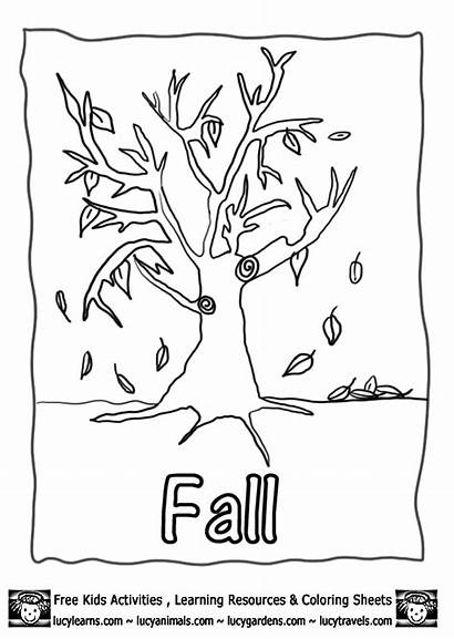 Autumn Coloring Fall Printable Pages Activities Colouring
