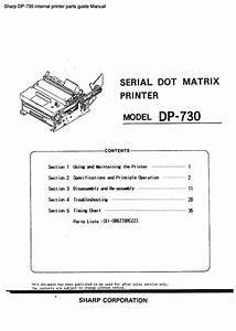 Sharp Dp-730 Internal Printer Parts Guide Manual Pdf