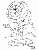 Fan Electric Coloring Pages Ceiling Clipart Cartoon Clip Template Printable Sketch Templates Getdrawings Library Getcolorings sketch template