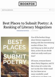 Best Places To Submit Poetry  A Ranking Of Literary