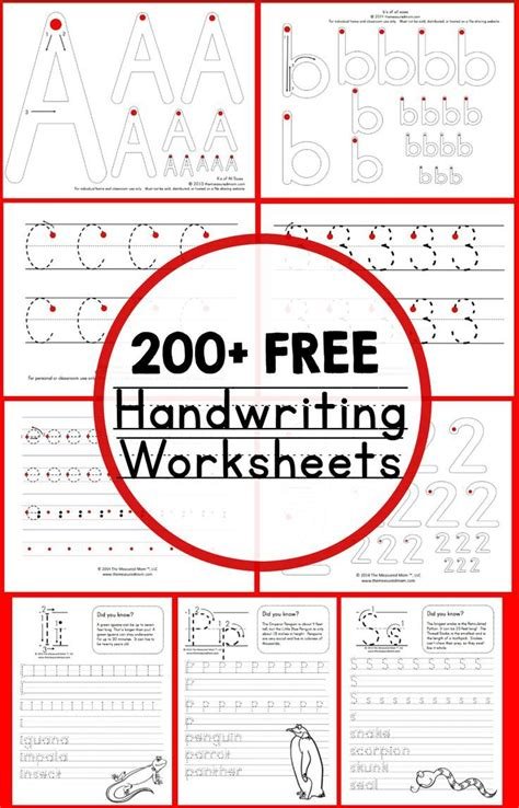 teaching handwriting free handwriting worksheets