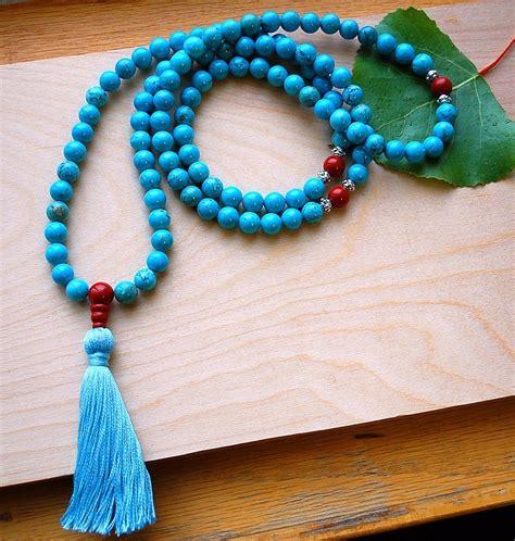 Tibetan Turquoise Mala Beads - Sakura Designs