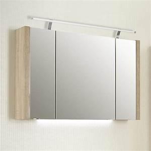 Spiegelschrank 100 Cm Led : pelipal lardo spiegelschrank 100 x 17 x 65 2 cm mit led aufsatzleuchte und waschplatzbeleuchtung ~ Bigdaddyawards.com Haus und Dekorationen