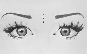 art, beauty, black and white, drawing, eyes, love, make up ...