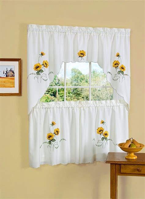 white kitchen curtains with sunflowers 10 mesmerizing sunflower kitchen decor theme 75
