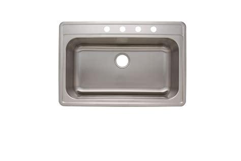 astracast kitchen sinks as1376 33 quot x 22 quot x 6 quot 18g single bowl topmount economy 1376