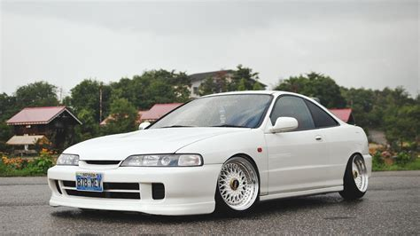 Wallpapers Honda Automobiles by Car Wallpapers Honda Integra Type R Tuning White Stance