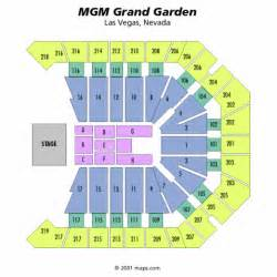 mgm grand garden arena general seating chart mgm grand