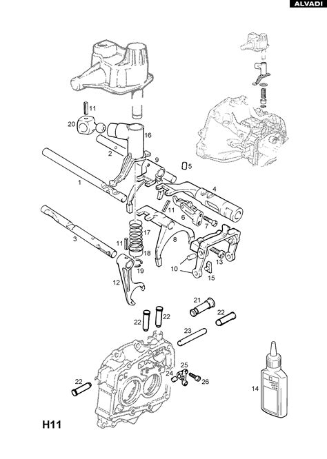 Vauxhall Transmission Diagram by Opel F17 Manual Transmission Selector Shaft And Fork