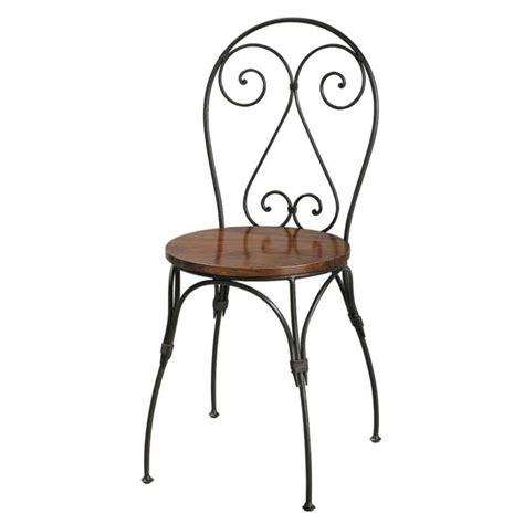 chaises en fer forgé chaise cœur en sheesham massif et fer forgé luberon