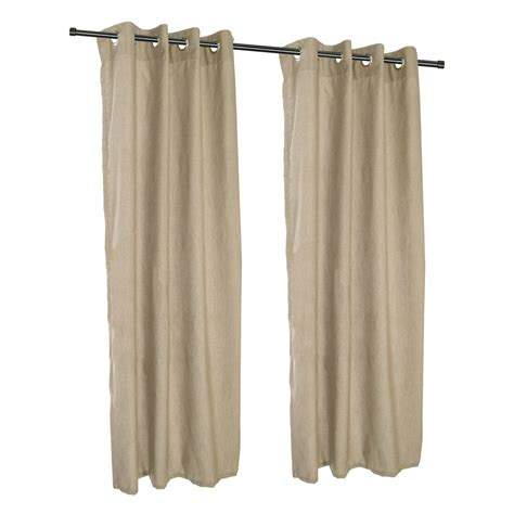 Sunbrella Drapes - cast tinsel grommet sunbrella outdoor curtains