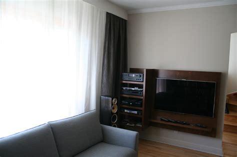 Custom hi fi wood unit Modern Living Room Montreal