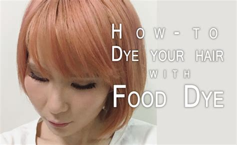 How To Dye Your Hair Pink With Food Dye