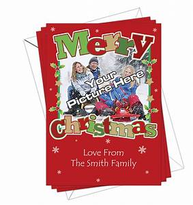 Christmas Cards Own Photo Pack Of 10 DL Designs Ltd