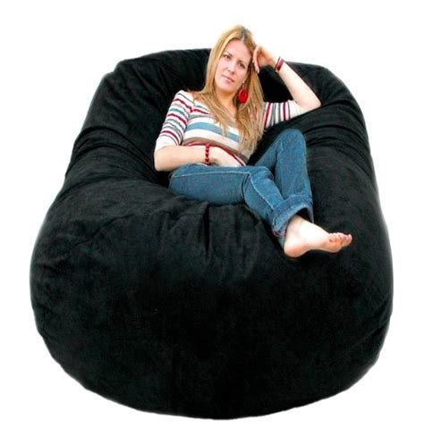 cozy sack 6 bean bag chair large black
