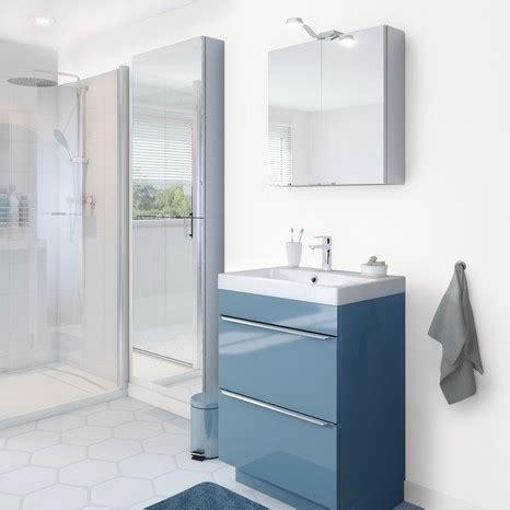 meuble sous vasque  poser bleu imandra