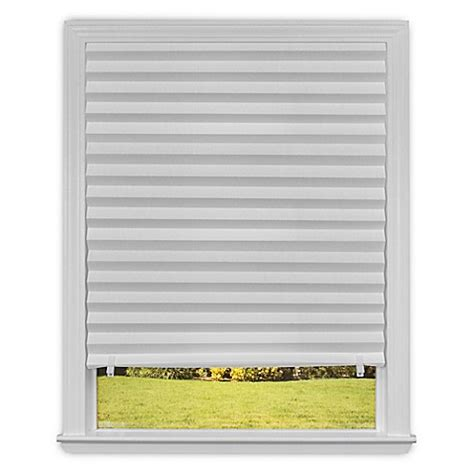 bed bath and beyond l shades redi shade cordless light filtering paper window shade in