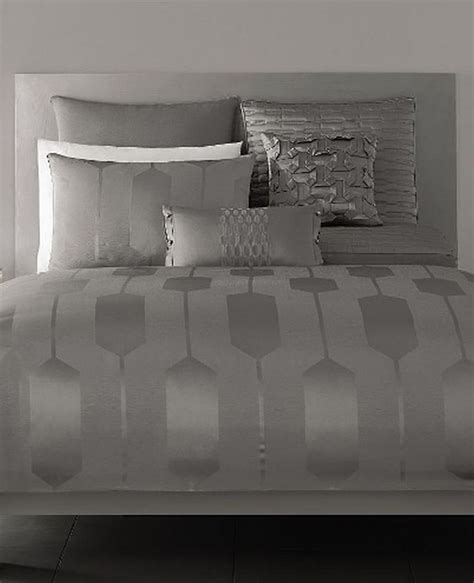 hotel collection silver links jacquard king sham