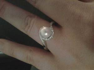 Pearl engagement rings weddingbee for Pearl engagement ring with wedding band