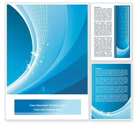 ice blue theme word template  poweredtemplatecom