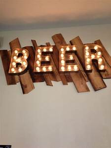 handmade beer sign vintage style metal letters light With 18 inch marquee letters