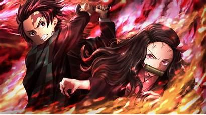 Slayer Demon Anime Nezuko 4k Wallpapers Tanjirou