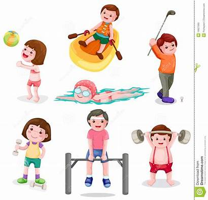 Physical Exercise Activity Clipart Regularly Clip Illustration