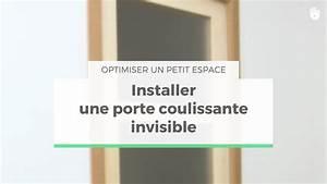 Comment Poser Une Porte A Galandage En Renovation : poser une porte coulissante invisible optimiser un petit ~ Melissatoandfro.com Idées de Décoration