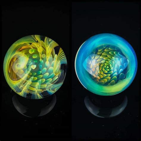 Artist Embeds NeverEnding Vortexes Into Art Glass Marbles