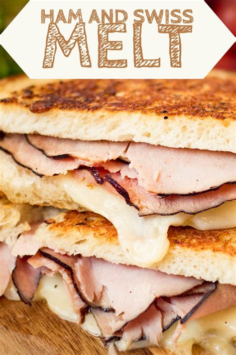 With the grilled sourdough, melted cheeses and. Garlic Ham and Swiss Melt | Recipe | Cooking and baking, Food, Butter recipe