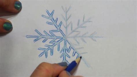 leichte schneeflocke malen fuer kinder   draw